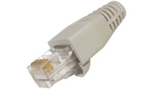 RJ45 Connector with Grey Boot for CAT 5 Cable
