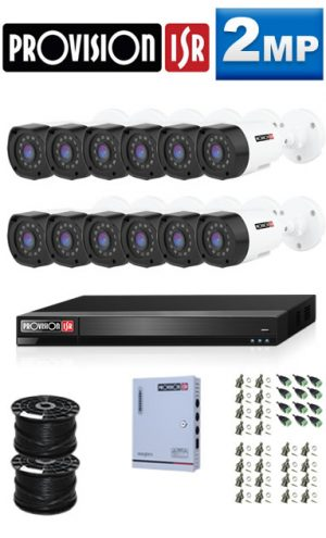 2MP Custom ProVision AHD Package - 1080P 16Ch DVR, 12 Bullet Cameras (HT)