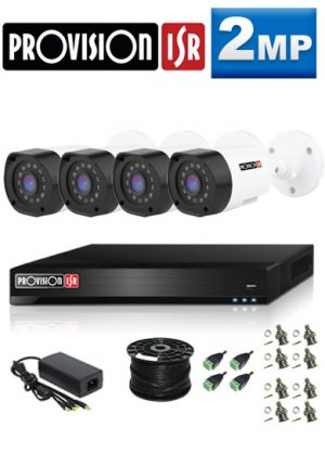 2MP Custom ProVision AHD Package - 1080P Lite 4Ch DVR, 4 Bullet Cameras (HT)