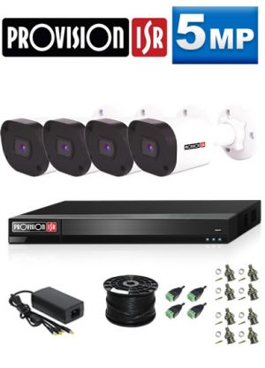 5Mp Custom ProVision AHD Package - 4Ch DVR, 4 Bullet Cameras (HT)