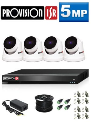 5Mp Custom ProVision AHD Package - 4Ch DVR, 4 Dome Cameras (HT)