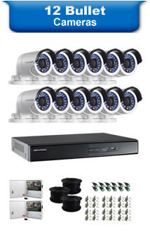 12 Bullet Cameras