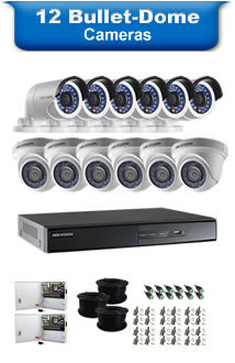 12 Bullet & Dome Camera Packages