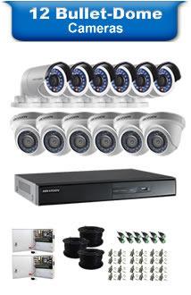12 Bullet & Dome Cameras