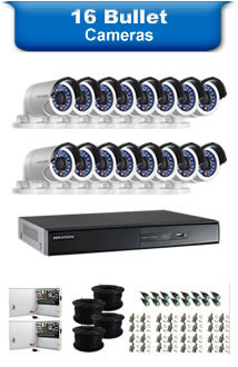 16 Bullet Camera Packages