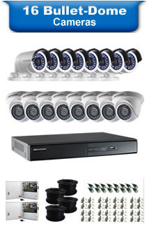 16 Bullet & Dome Camera Packages