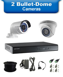 2 Bullet & Dome Camera Packages