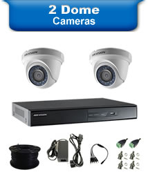 2 Dome Camera Packages