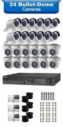 24 Bullet & Dome Camera Packages