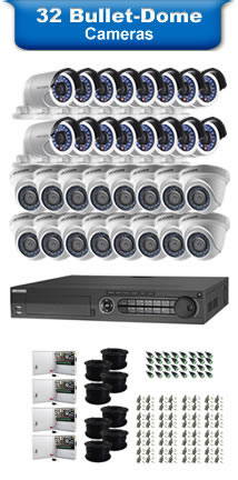 32 Bullet & Dome Camera Packages