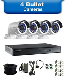 4 Bullet Camera Packages