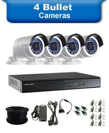 4 Bullet Cameras