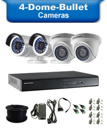 4 Bullet & Dome Camera Packages