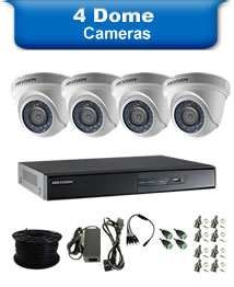 4 Dome Camera Packages