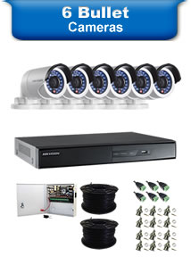 6 Bullet Camera Packages