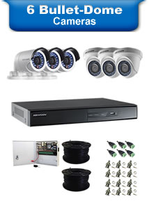 6 Bullet & Dome Camera Packages