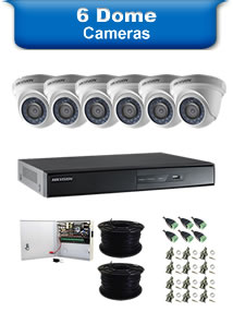 6 Dome Camera Packages