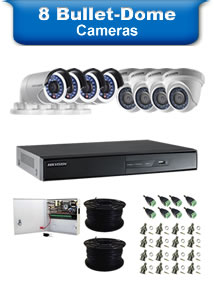 8 Bullet & Dome Camera Packages
