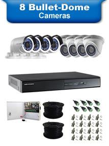 8 Bullet & Dome Cameras
