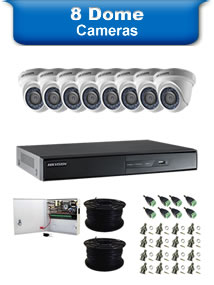 8 Dome Camera Packages
