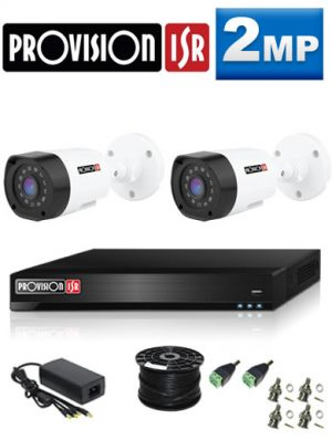2MP Custom ProVision AHD Package - 1080P Lite 4Ch DVR, 2 Bullet Cameras (HT)