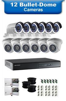 12 Dome Cameras