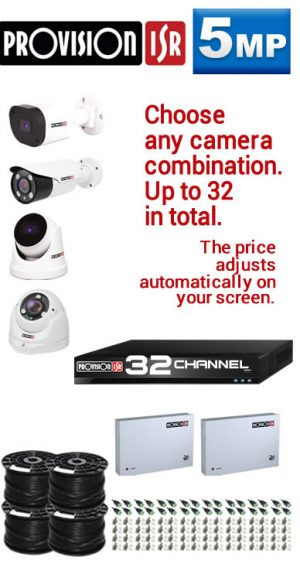 PROVISION HT 5MP up to 32