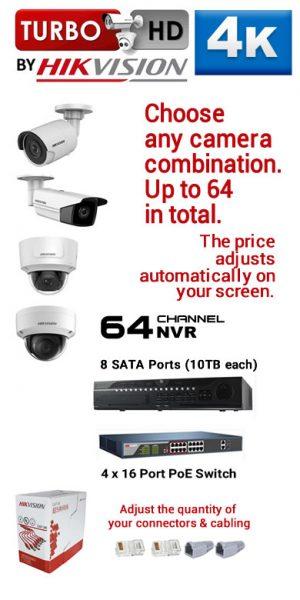 12) 64Ch 4K NVR - 8 SATA Ports (10TB each)