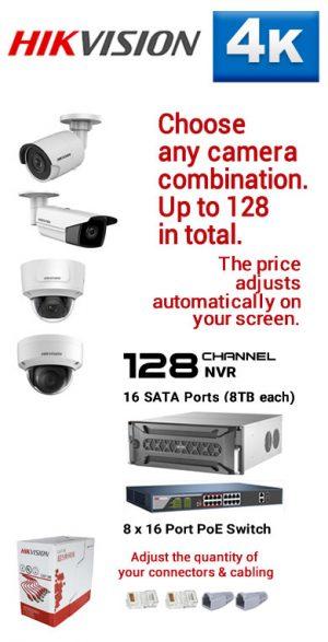 13) 128Ch 4K NVR - 16 SATA Ports (8TB each)