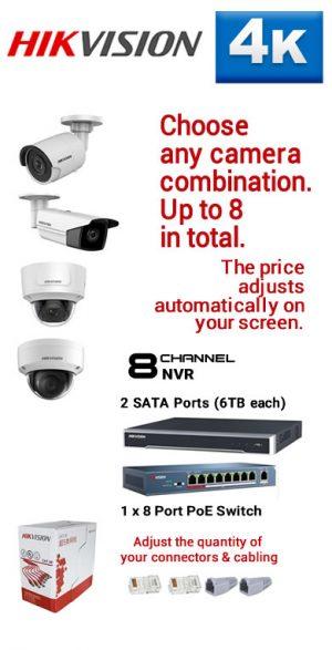 3) 8Ch 4K NVR - 2 x SATA Ports 6TB each
