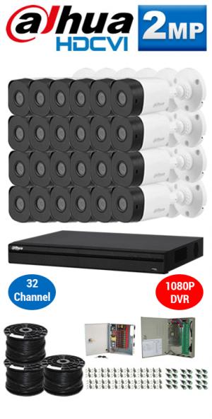 2MP Custom DAHUA Turbo HD Package - 1080P 32Ch DVR, 24 Bullet Cameras