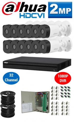 2MP Custom DAHUA Turbo HD Package - 1080P 32Ch DVR, 12 Bullet & Dome Cameras