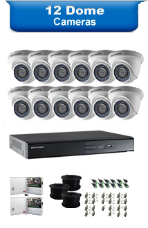 12 Dome Camera Packages