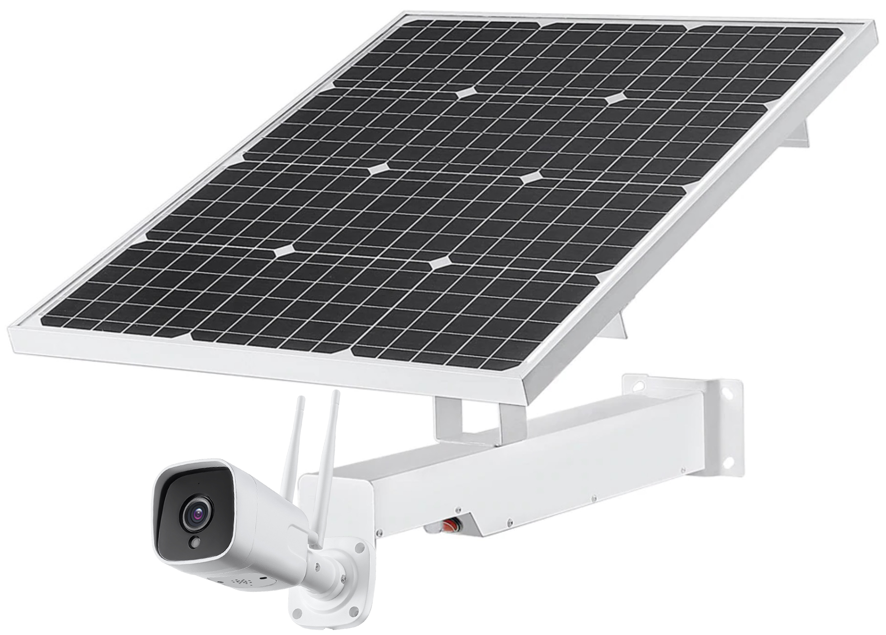 3G 4G Sim Card Outdoor 5MP Bullet Camera _ Bracket with Solar Panels & Built-in Batteries