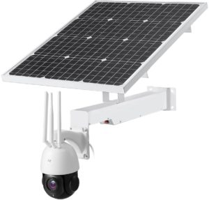 3G 4G Sim Card Outdoor 5MP PTZ Camera, 20x Zoom, 100m IR, 2 Way Audio | Bracket with Solar Panel & Built-in Batteries