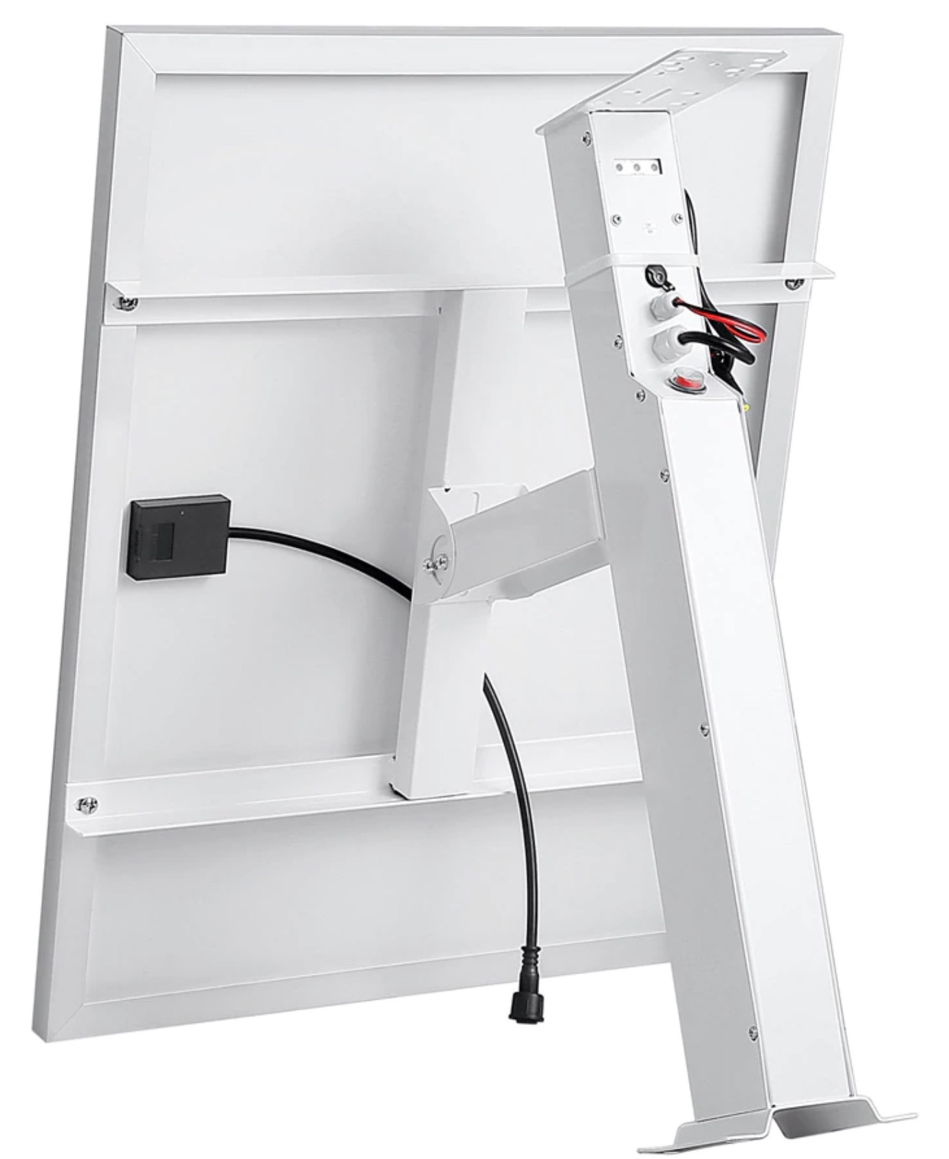 Bracket with Solar Panel & Batteries - bottom
